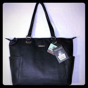 STONE & CO NWT LEATHER LAP TOP SHOULDER BAG NWT